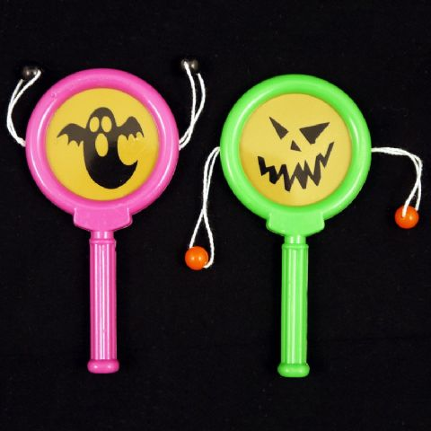 72 x Paddle Drums HALLOWEEN (Black Green Orange Purple) Wholesale Party Bag Fillers